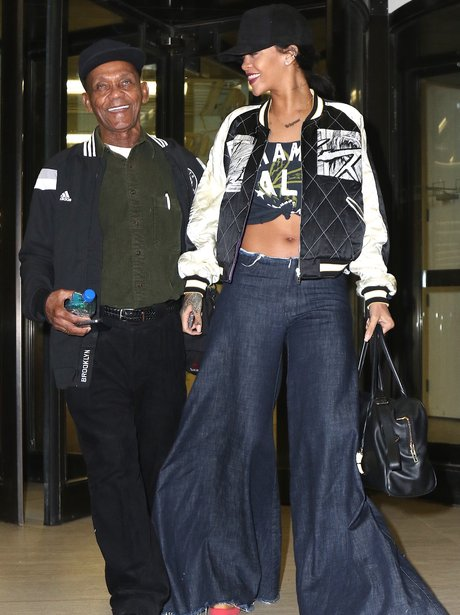 Rihanna Baggy Jeans and Grandpa