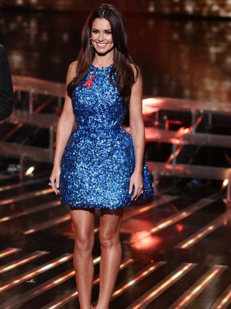 Cheryl Sparkly Blue Dress X Factor 2014