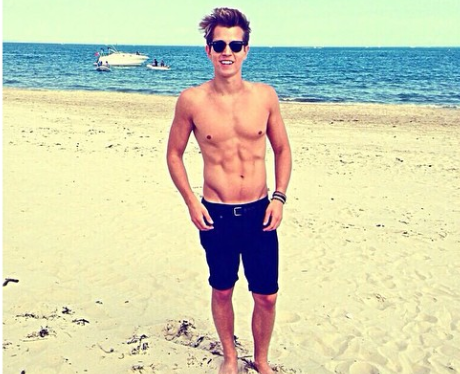 James McVey Topless Holiday