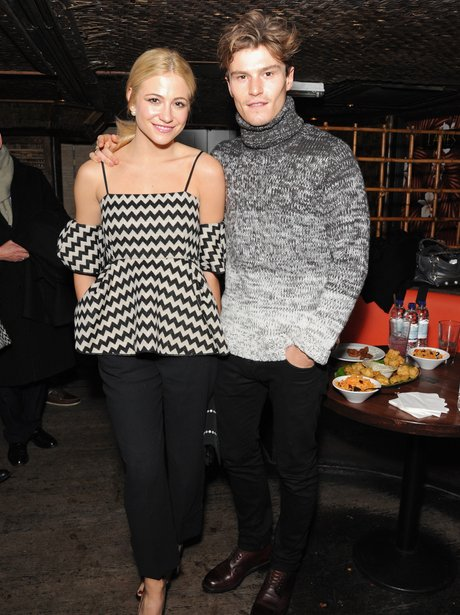 Pixie Lott and Oliver Cheshire Monochrome