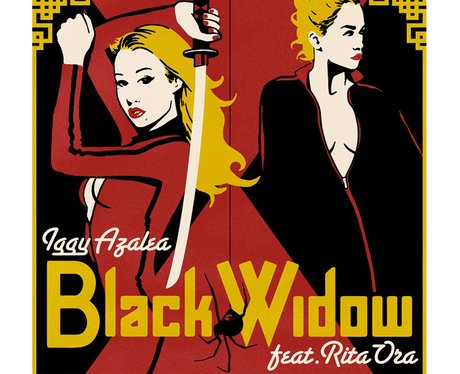 Black Widow Cover With Border