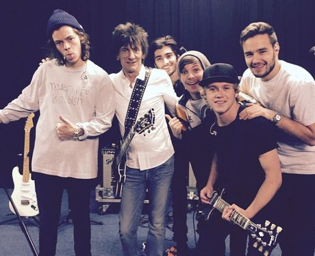 One Direction with Ron Wood X Factor