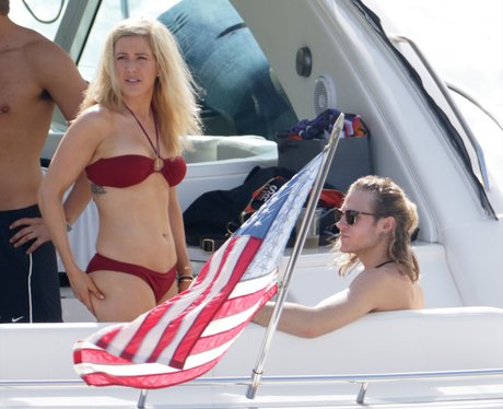 Ellie Goulding and Dougie Poiynter