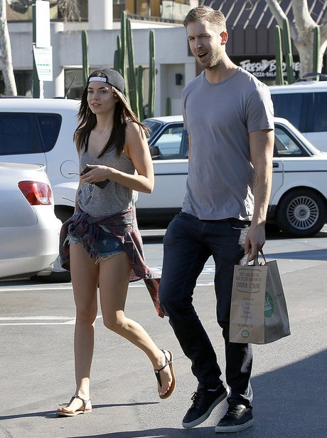 Calvin Harris and his girlfriend