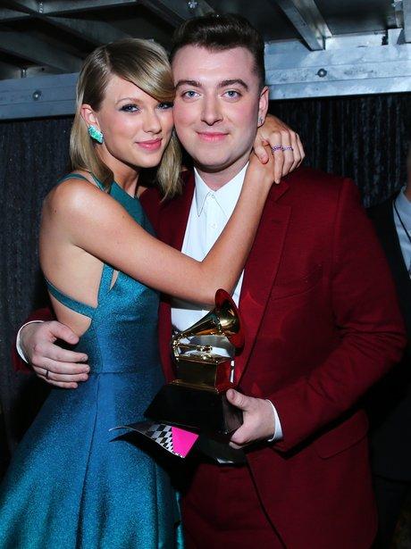 Taylor Swift and Sam Smith Grammy Awards 2015