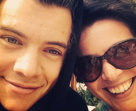 Harry Styles and his mum Anne