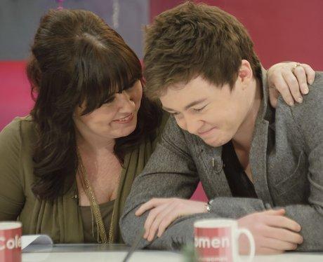 Jake Roche and Mum Coleen Nolan