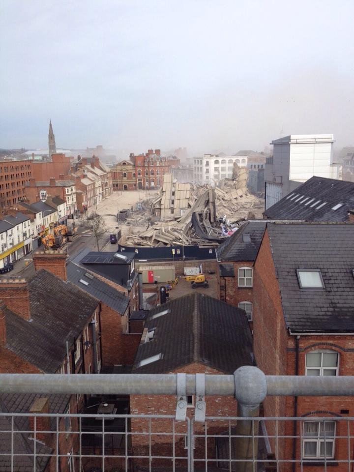 New Walk Centre Leicester Explosion