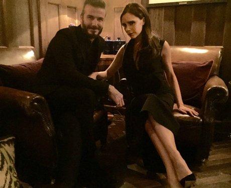 David Beckham and Victoria Beckham on a date at Ha