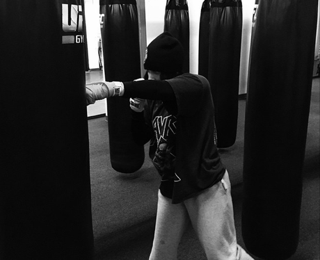 Lady Gaga boxing