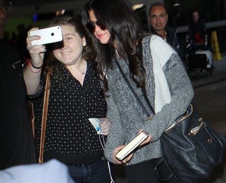 Selena Gomez and Fan