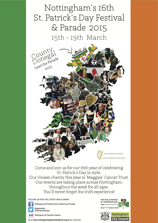 St Patrick's Day Poster Nottingham
