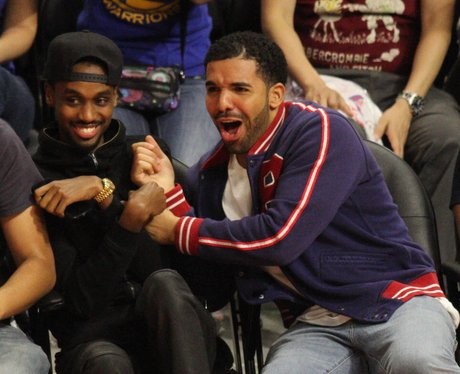Drake attends Basket Ball Game
