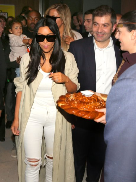 Kim Kardashian Eating Bread