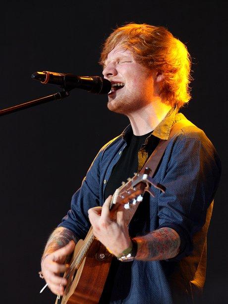 Ed Sheeran Summertime Ball 2014