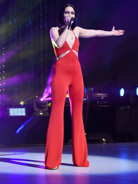Jessie J Red Jumpsuit MTV Event