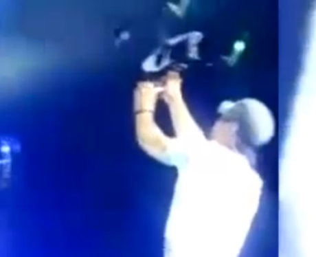 Enrique Iglesias drone on stage