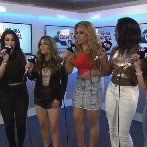 Fifth Harmony backstage Capital Summertime Ball 20