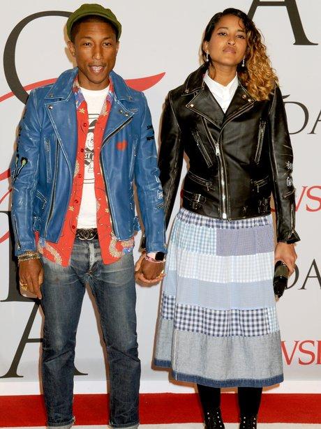 Pharrell Williams and Helen Lasichanh CFDA Awards