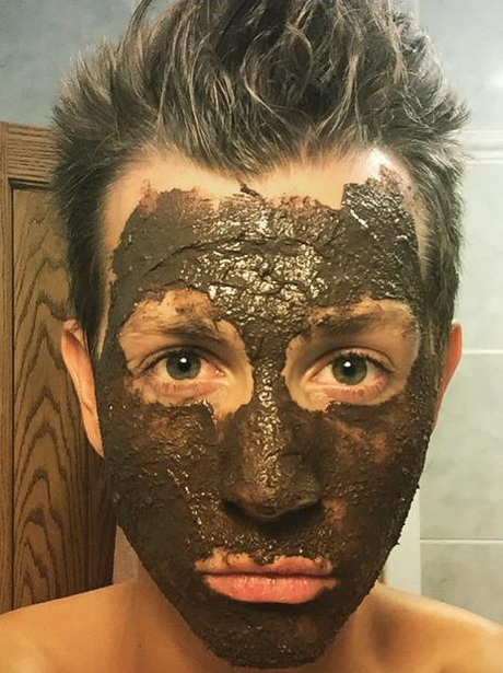 James McVey with a facemask on