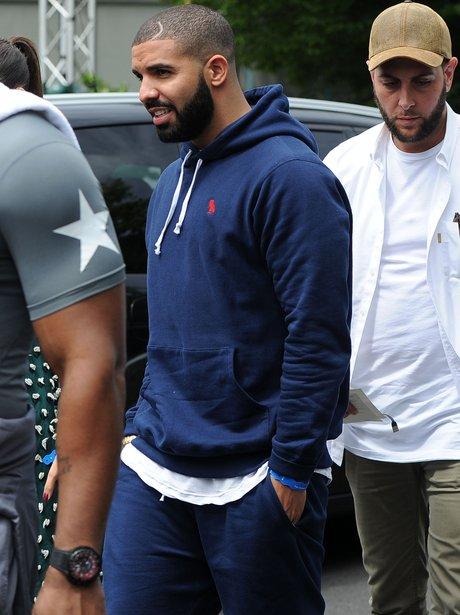Drake attends Wimbledon Tennis Open