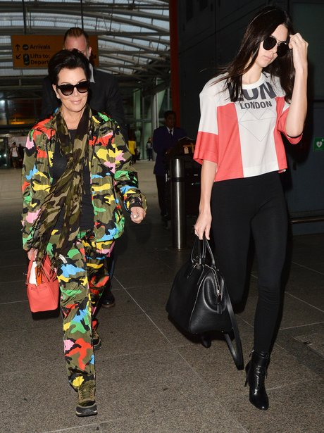 Kendall Jenner Kris Jenner Crazy Camouflage Outfit