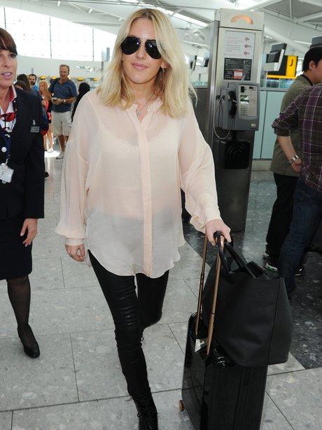 Ellie Goulding Sheer Shirt Airport