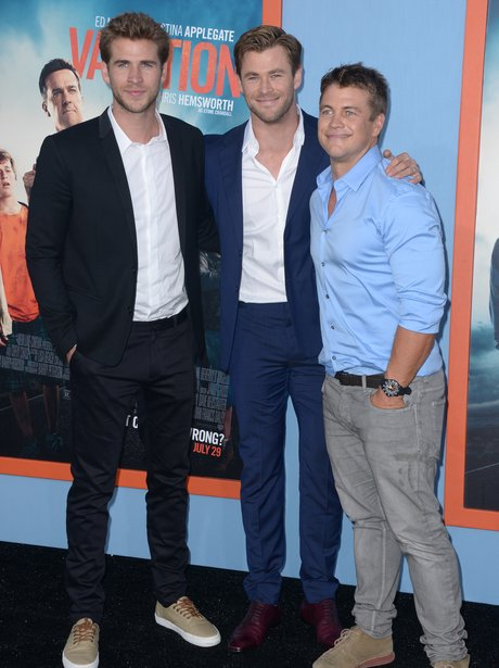 Hemsworth Brothers  at a premiere