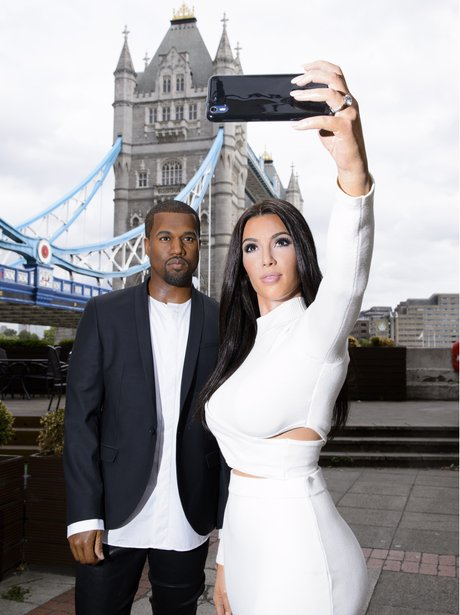 Kim Kardashian and Kanye West Waxwork 2015