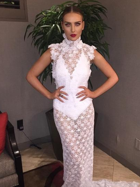 Perrie Edwards See Through Dress