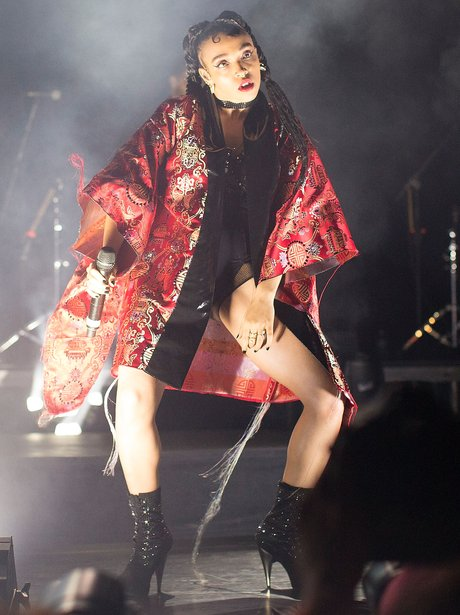 FKA Twigs performing on stage