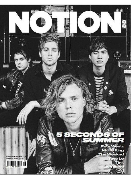 5 Seconds Of Summer Notion Magazine 2015