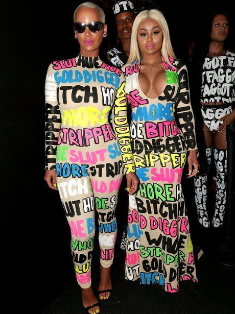 Amber Rose & Blac Chyna - MTV VMAs 2015 red carpet