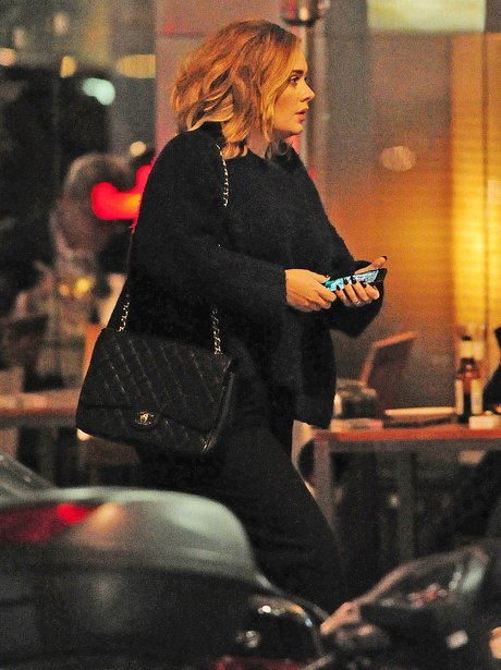 Adele out for dinner in London
