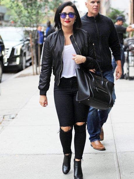 Demi Lovato Ripped Jeans