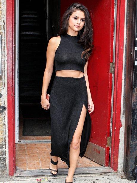 Selena Gomez See-Through Top