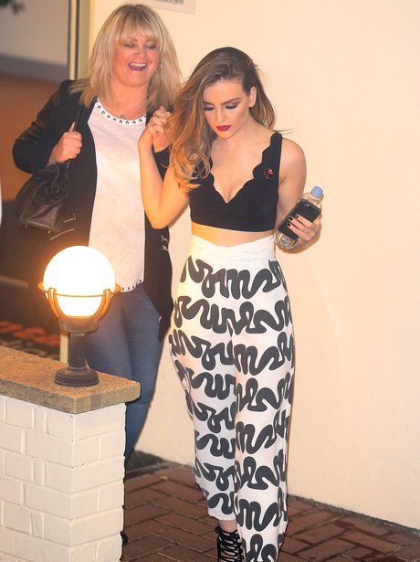 Perrie Edwards with her mum