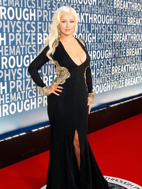 Christina Aguilera attends the annual Breakthrough