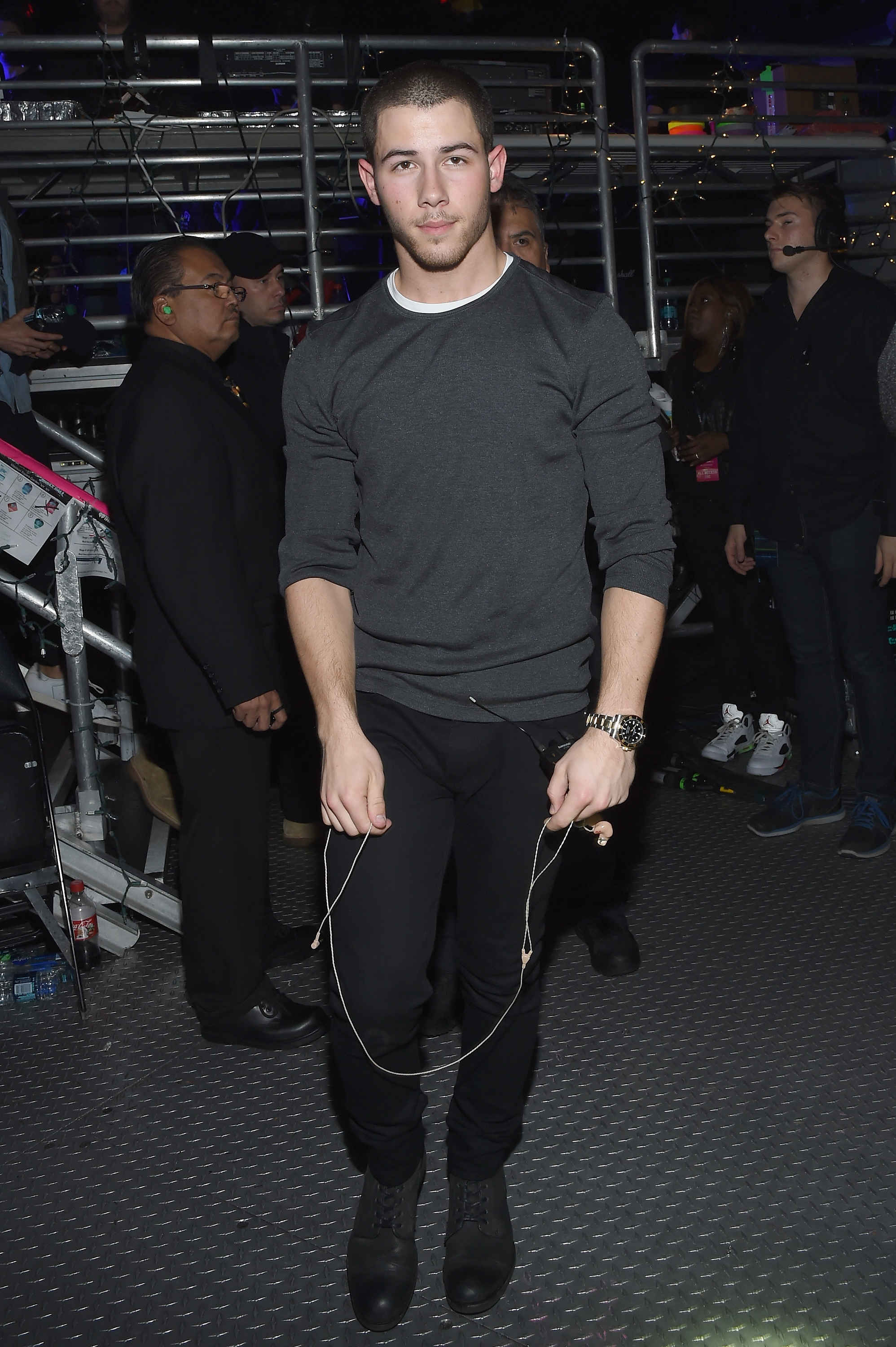 Nick Jonas backstage at Madison Square Garden