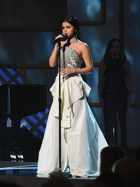 Selena Gomez performs onstage during the Billboard