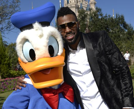 Jason Derulo With Donald Duck at Disney Land