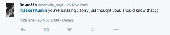 Daniella Ceasar First tweet