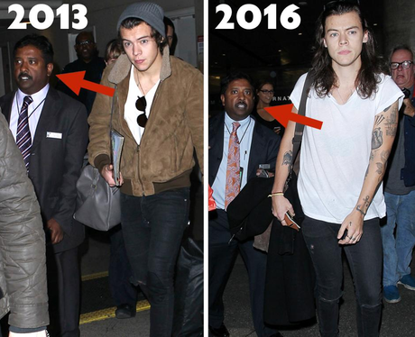 Harry Styles Airport Security