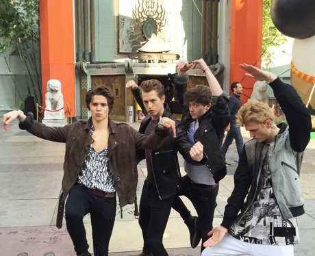 The Vamps getting rock out a bit of #KungFuPanda 3