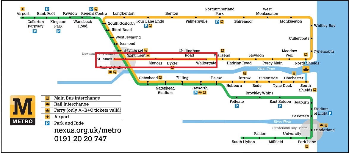 Tyne wear metro closures February 2016