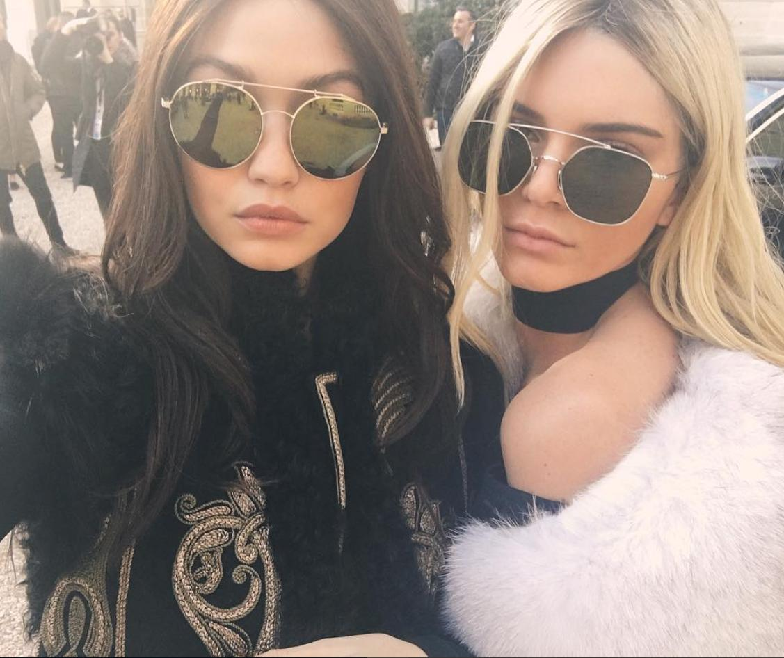 Kendall and Gigi swap hair colours