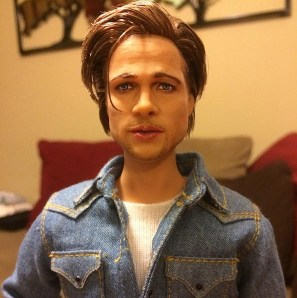 Brad Pitt As A Doll