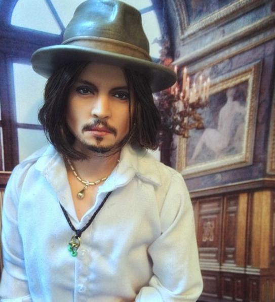 Johnny Depp As A Doll