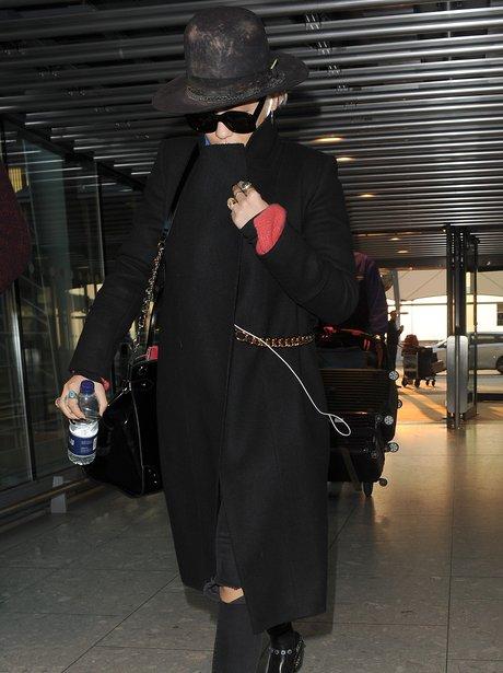 Rita Ora in Heathrow airport