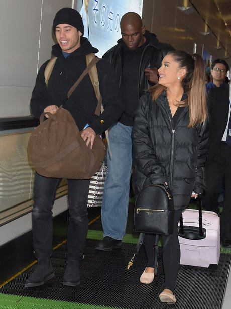 Ariana Grande looks lovingly at her boyfriend